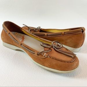 Timberland brown leather boat shoes